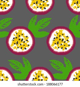 passion fruits vector pattern