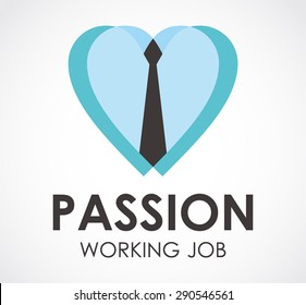 Passion tie business office work logo element symbol shape icon vector design template abstract company working job