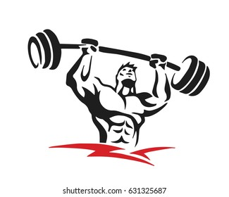 Passionate Body Builder Gym Athlete Logo