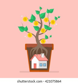 Passive income from real estate. Business concept