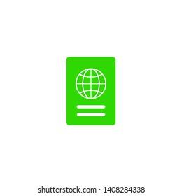 Passport with biometric data icon isolated on background. International travel passport document icon. Passport vector icon EPS 10.
