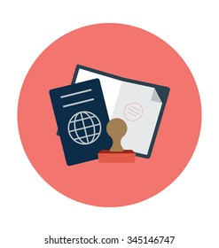 Passport Colored Vector Icon