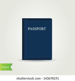 Passport cover isolated.Vector illustration.