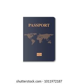 Passport cover vector design, Identification citizen.
