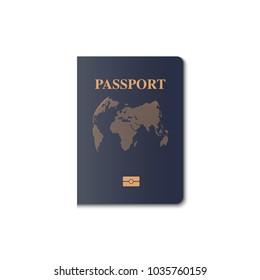 Passport cover vector design, Identification citizen, Vector, Illustration.