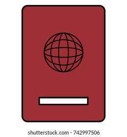 passport document isolated icon