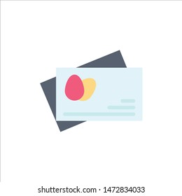 Passport, Egg, Easter  Flat Color Icon. Vector icon banner Template