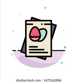 Passport, Egg, Eggs, Easter Abstract Flat Color Icon Template