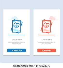 Passport, Egg, Eggs, Easter  Blue and Red Download and Buy Now web Widget Card Template. Vector Icon Template background