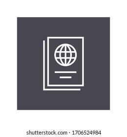 passport icon illustration vector flat