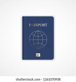 Passport icon. Isolated on white. Vector illustration.
