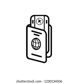 Passport Icon. Personal Identification Vector.