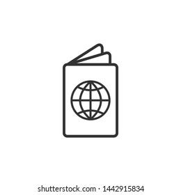 Passport icon template black color editable. Passport symbol vector sign isolated on white background. Simple logo vector illustration for graphic and web design.
