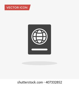 Passport Icon in trendy flat style isolated on grey background. Citizenship symbol for your web site design, logo, app, UI. Vector illustration, EPS10.