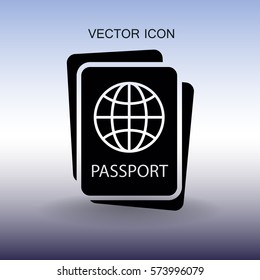 Passport icon vector illustration