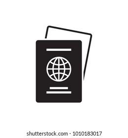 Passport Icon. Vector. Illustration. Isolate on white background.