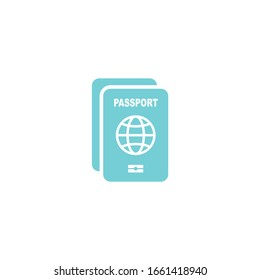 passport icon vector sign isolated for graphic and web design. passport symbol template color editable on white background.
