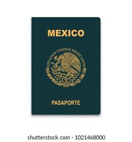 Passport of Mexico. Vector illustration
