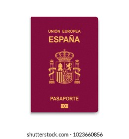 Passport of Spain. Vector illustration
