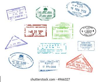 Passport Stamps - Hongkong, Macau, Philippines, Cambodia, Malaysia, Thailand