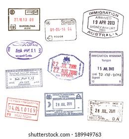 Passport stamps. Set 2