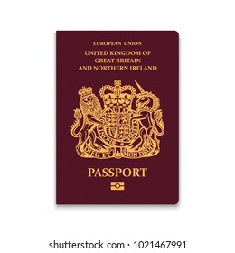 Passport of United Kingdom. Vector illustration