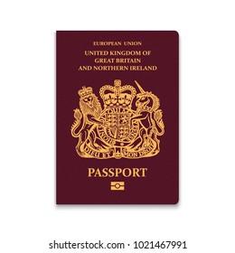 Passport of United Kingdom. Vector illustration