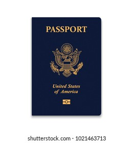 Passport of USA. Vector illustration