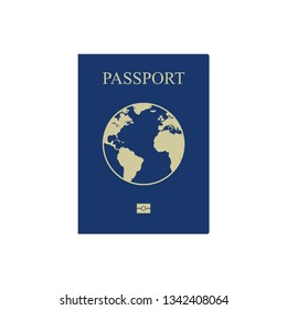 Passport vector icon isolated on white