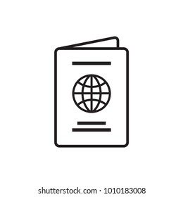 Passport, vector, icon, logo isolated Illustration.