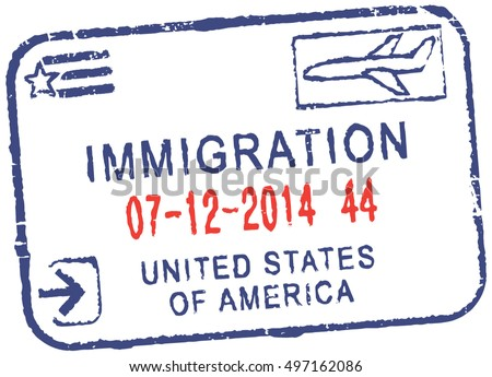 Passport Vector Stamp Immigration United States Of America