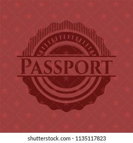 Passport vintage red emblem