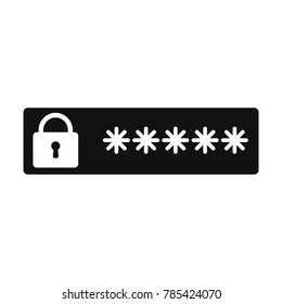 password protection icon, password vector icon, flat design best vector password illustration