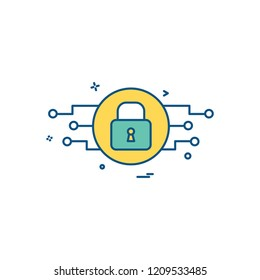 Password and security icon design vector
