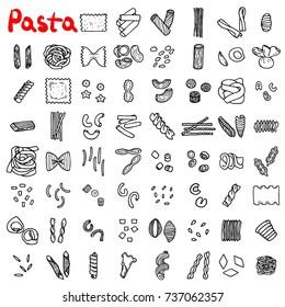 Pasta icons set