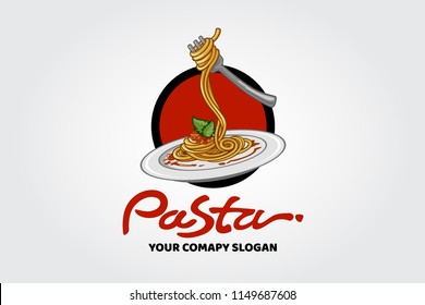 The Pasta Logo Illustration. An excellent logo template highly suitable for food and fine dining businesses.