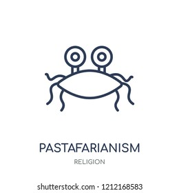 Pastafarianism icon. Pastafarianism linear symbol design from Religion collection. Simple outline element vector illustration on white background.