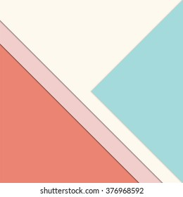 Pastel brochure layout design - soft minimalistic presentation background with layered paper - trendcolors 2016 with Peach Echo, Limpet Shell and Rose Quartz
