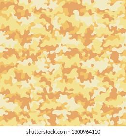 Pastel Camouflage Seamless Pattern - Pastel orange camouflage repeating pattern design