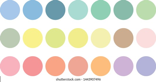 pastel color circle collection