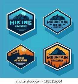 pastel color climber logo design shape