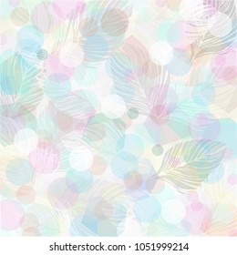 Pastel color leaves pattern design background wallpaper illustration