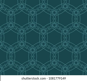 Pastel color seamless lace pattern with abstract geometric flower. Super fashion design background for invitation card. illustration