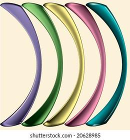 pastel coloured design elements