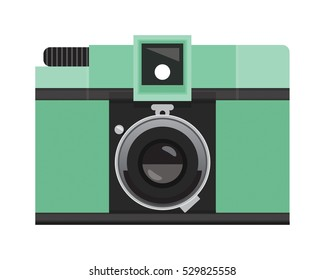 Pastel Green Analog Film Camera