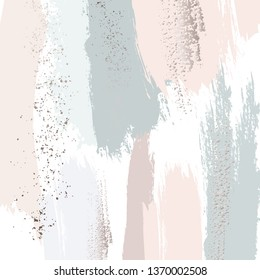Pastel green peach glitter pattern. Brush stroke pastel vector marble texture. Applicable for design covers, presentation, invitation, flyers, annual report, posters and business cards. Modern artwork