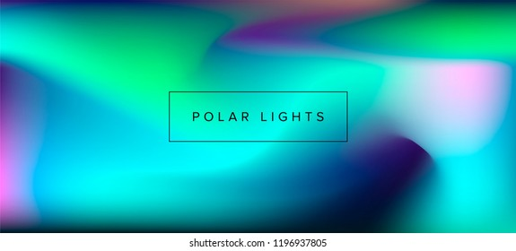 Pastel holographic blurry background of northern lights, soft shades and colors.