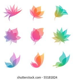 Pastel nature. Elements for design. Vector illustration (eps8).