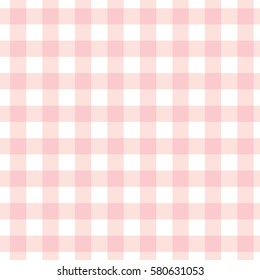 pastel pink plaid gingham background. Checkered pattern