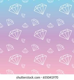 Pastel Rainbow with Diamond Pattern
